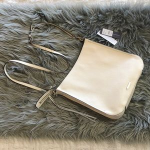 Rebecca Minkoff Regan Feed White Crossbody Bag